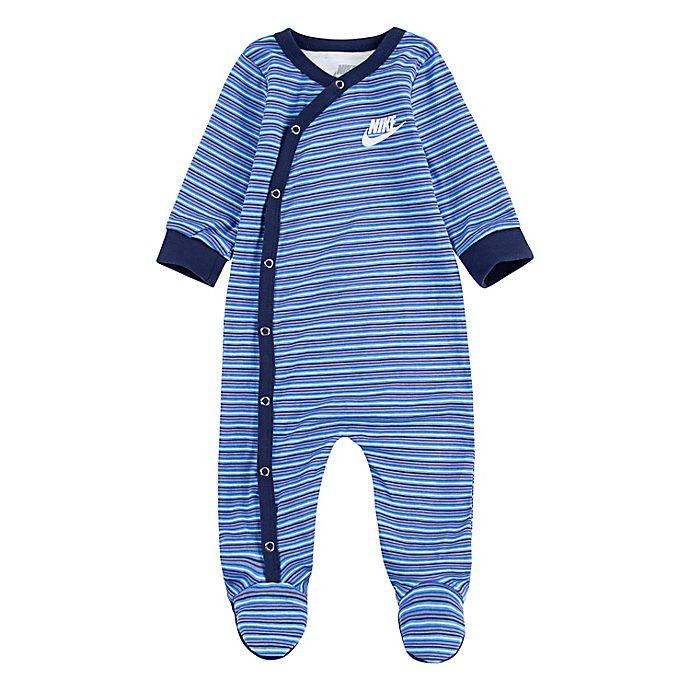 Alternate image 1 for Nike® Striped Footed Coverall