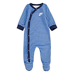 Nike® Size 3M Striped Footed Coverall in Blue/Navy