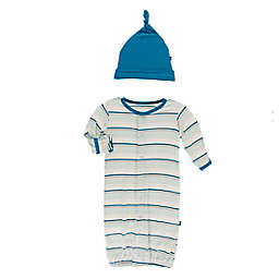 KicKee Pants® Size 0-3M 2-Piece Culinary Art Stripe Layette Gown Converter