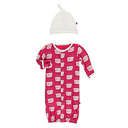 KicKee Pants® Size 0-3M 2-Piece Cherry Pie Takeout Layette Gown Converter in Red