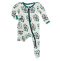 KicKee Pants® Size 6-9M Ottercado Footed Pajama in White