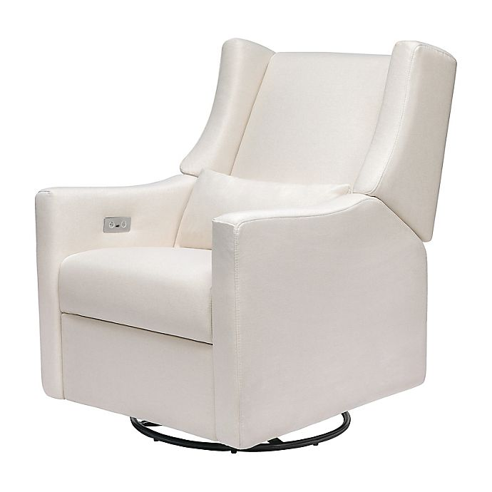 Alternate image 1 for Babyletto Kiwi Glider Recliner with Electronic Control and USB in Performance Cream
