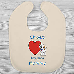 Puppy Heart Belongs Bib