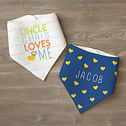 Look Who Loves Me 2-Pack Multicolor Bandana Bibs