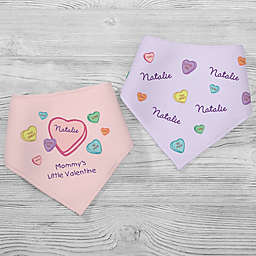 Little Valentine 2-Pack Bandana Bibs in Pink