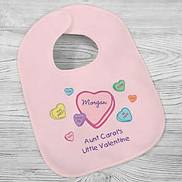 """""""Little Valentine"""" Hearts Bib in Pink"""