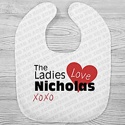 The Ladies Love Me Printed Bib in Grey