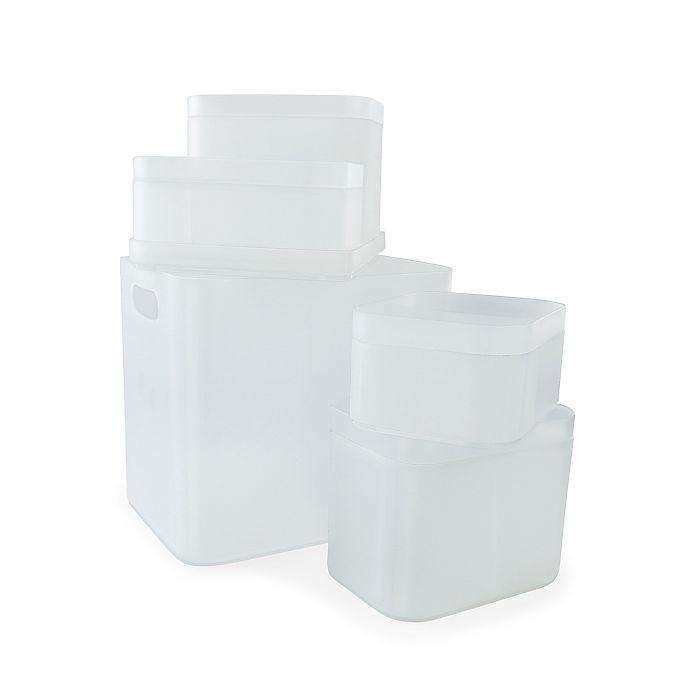 Alternate image 1 for Simply Essential™ Nesting Storage Bins (Set of 5)
