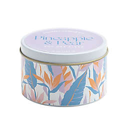 Pineapple & Pear 5 oz. White Tin Scented Candle
