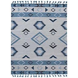 Araceli Dorothea Handcrafted Area Rug in Blue/Grey