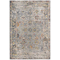 Amer Rugs Fabienne Faith 7'10 x 10'10 Area Rug in Charcoal/Yellow