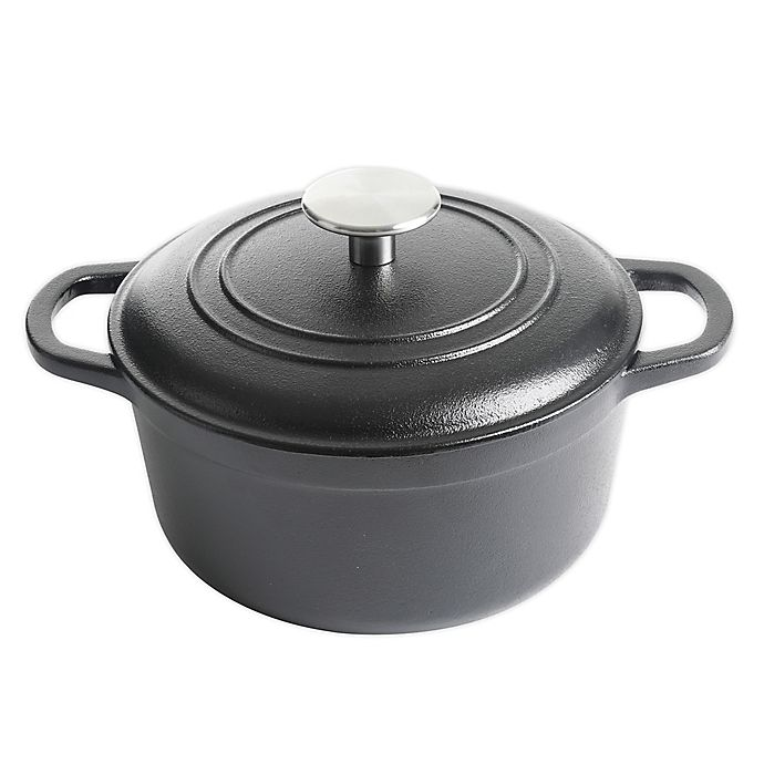 Alternate image 1 for Our Table™ Preseasoned Cast Iron Dutch Oven in Black