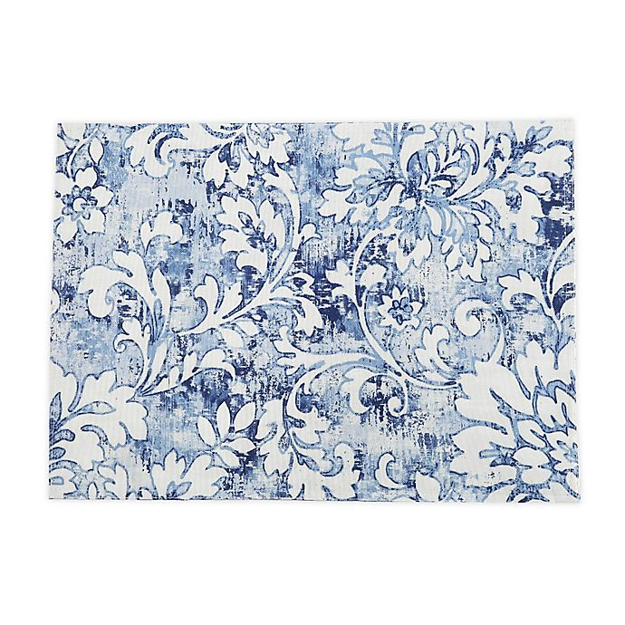 Alternate image 1 for Breeze Scroll Placemats in Blue (Set of 4)