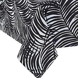 Kauai 60-Inch x 84-Inch Indoor/Outdoor Tablecloth with Umbrella Hole in Black