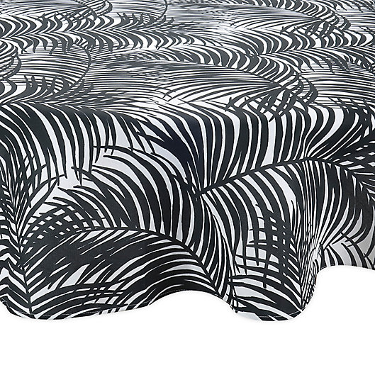 Alternate image 1 for Kauai 70-Inch Round Indoor/Outdoor Tablecloth in Black