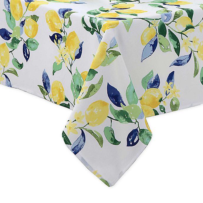 Alternate image 1 for Lemon Vines Indoor/Outdoor Tablecloth