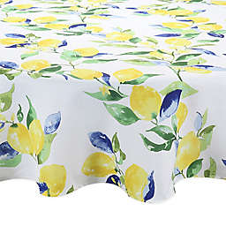 Lemon Vines Round Indoor/Outdoor Tablecloth