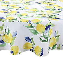 Lemon Vines Round Indoor/Outdoor Tablecloth