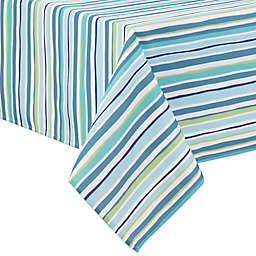 Summer Stripe 60-Inch x 84-Inch Indoor/Outdoor Tablecloth in Blue