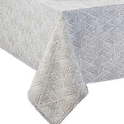 Textured Diamond Indoor/Outdoor Tablecloth in Neutral