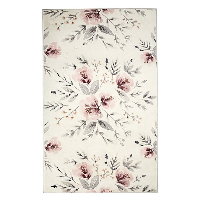 Alternate image 1 for Levtex Home Adeline Floral 5' x 7' Area Rug in Blush/Grey