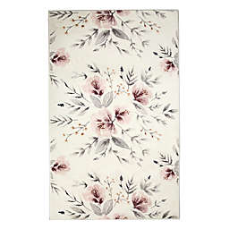 Levtex Home Adeline Floral 5' x 7' Area Rug in Blush/Grey