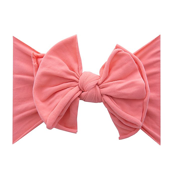 Alternate image 1 for Baby Bling FAB-BOW-LOUS Headband in Coral