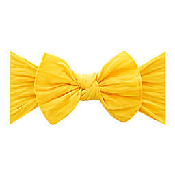 Baby Bling Size 0-24M Classic Knot Headband in Canary Yellow