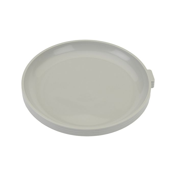 Alternate image 1 for Simply Essential™ 4-Piece Microwave Plates Set in Grey