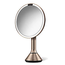 simplehuman® 8-Inch Touch Control Sensor Mirror in Rose Gold