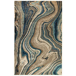 Liora Manne Ashford Agate 7'10 x 9'10 Area Rug in Blue