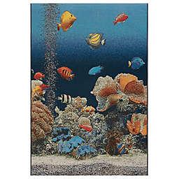 Liora Manné Marina Aquarium Indoor/Outdoor Rug in Ocean