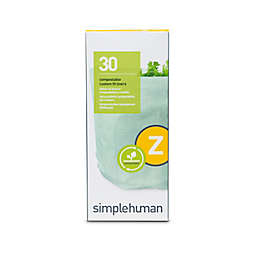 simplehuman® Code Z 30-Pack 4-Liter Compostable Custom Fit Liners