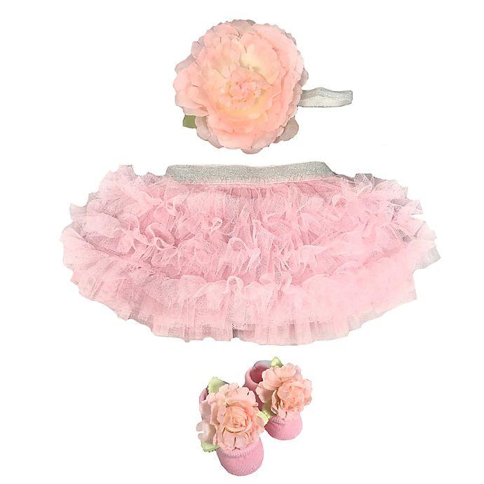 Alternate image 1 for Toby Signature™ Newborn 2-Piece Tutu and Headband Set in Pink