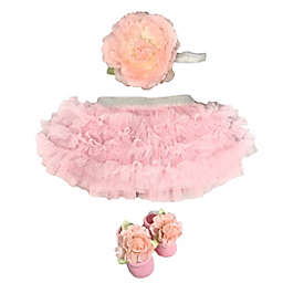 Toby Signature™ Newborn 2-Piece Tutu and Headband Set in Pink