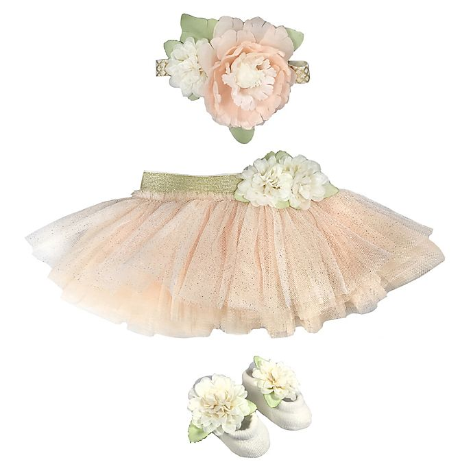Alternate image 1 for Toby Signature™ Newborn 2-Piece Tutu and Headband Set in Ivory