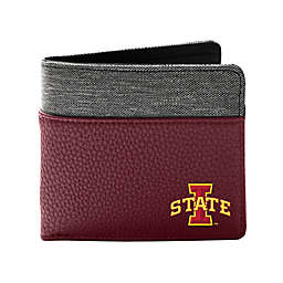 Iowa State University Pebble Bi-Fold Wallet in Burgundy