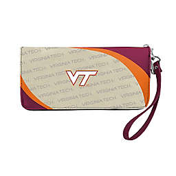 Virginia Tech University Curve Zip Organizer Wallet