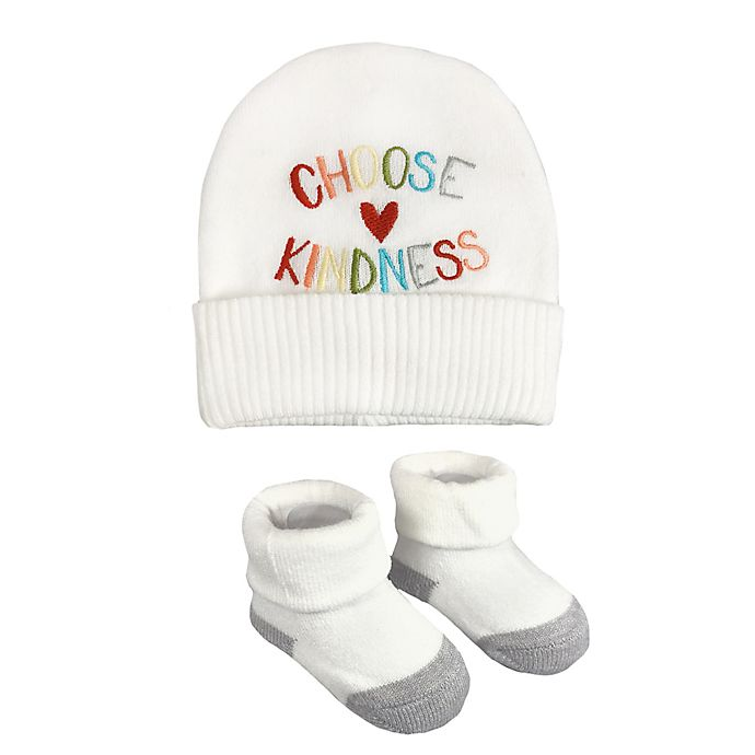 Alternate image 1 for NYGB™ 2-Piece Kindness Hat and Bootie Set in Ivory