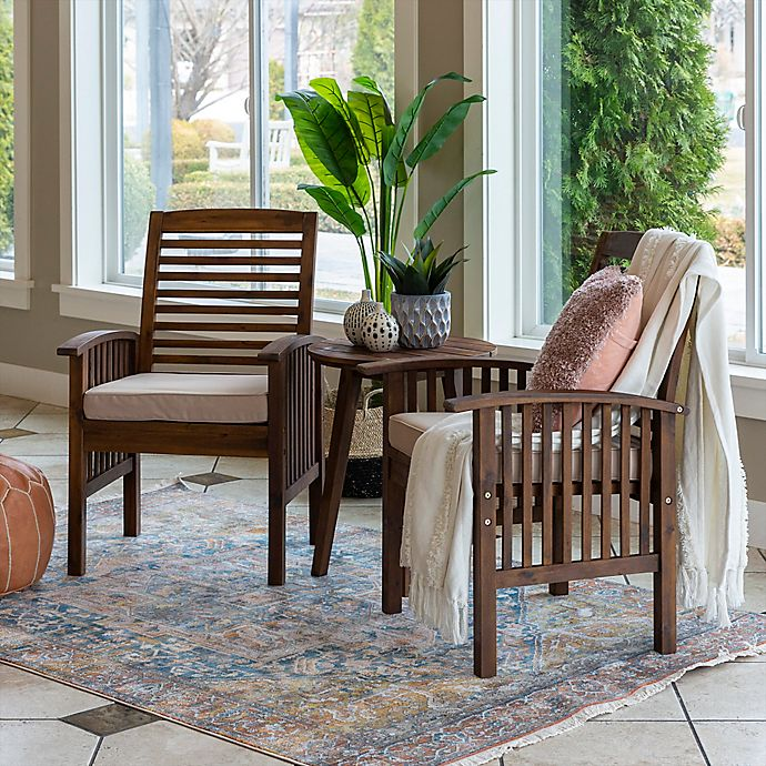 Alternate image 1 for Forest Gate 3-Piece Outdoor Chat Set in Dark Brown