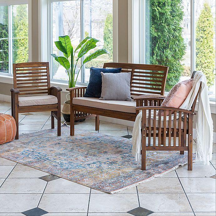 Alternate image 1 for Forest Gate 3-Piece Outdoor Chair Set in Dark Brown