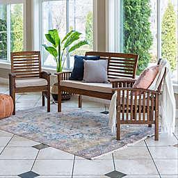 Forest Gate 3-Piece Outdoor Chair Set in Dark Brown