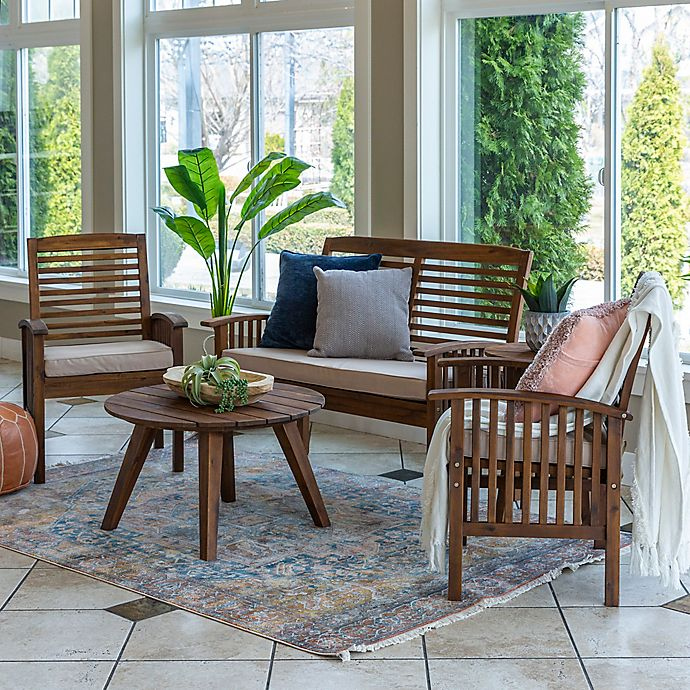 Alternate image 1 for Forest Gate 5-Piece Outdoor Chat Set in Dark Brown