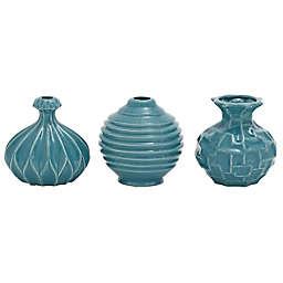 Ridge Road Décor 6-Inch Assorted Ceramic Vases (Set of 3)