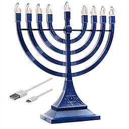 Zion Judaica® Battery/USB Powered LED Menorah