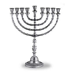 Zion Judaica® 20.5-Inch Large Tradtional Menorah in Antique Silver