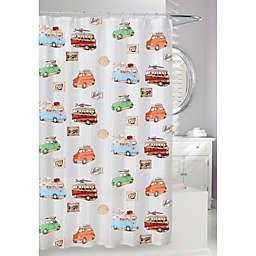 Moda On the Road 71-Inch x 71-Inch Peva Shower Curtain
