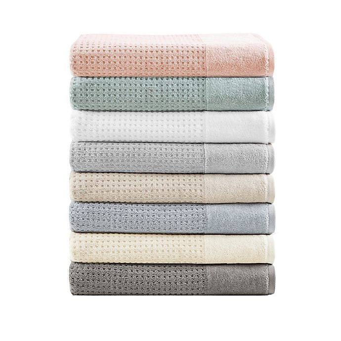 Alternate image 1 for Madison Park 6-Piece Waffle Cotton Bath Towel Set