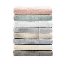 Madison Park Waffle Cotton Bath 6-Piece Towel Set