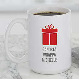 Choose Your Own Icon Christmas Mug in White